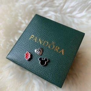 Pandora floating locket Disney Mickey charms